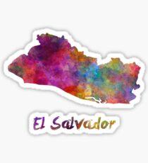 El Salvador in watercolor Sticker