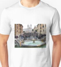 Famous Piazza Di Spagna in Rome, Italy T-Shirt