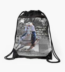BARREL RACING Drawstring Bag