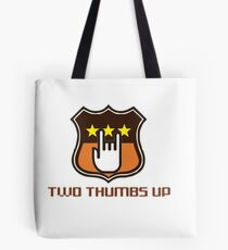 two thumbs up symbolized as a victory Tote Bag
