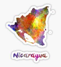 Nicaragua in watercolor Sticker