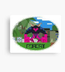 phantasy star online forest canvas print