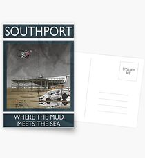 Southport - Where The Mud Meets The Sea Postcards