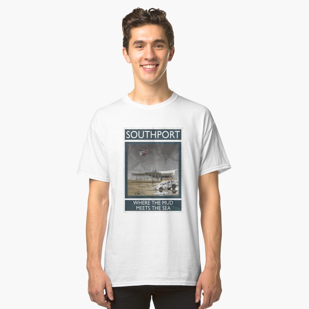 Southport - Where The Mud Meets The Sea Classic T-Shirt Front
