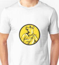 Dingo Dog Welder Circle Retro Unisex T-Shirt