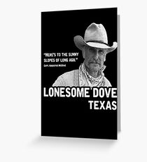 The Sunny Slopes of Long Ago - Lonesome Dove Greeting Card