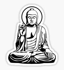 Junger Buddha (Schwarzweiß) Sticker