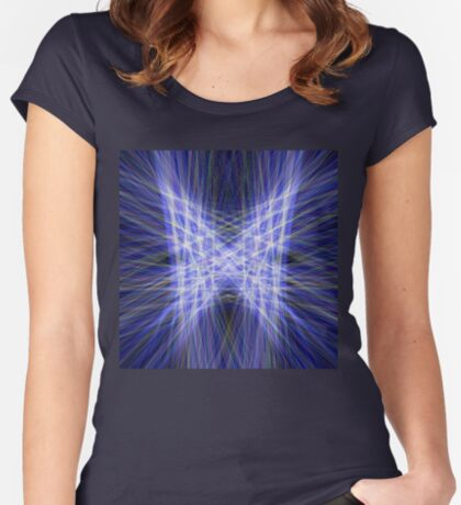 Laser Butterfly Fitted Scoop T-Shirt