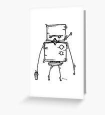 DUD the robot - white BG Greeting Card