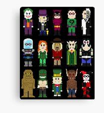 8-Bit Super Heroes: ROGUES! Canvas Print