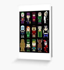 8-Bit Super Heroes: ROGUES! Greeting Card