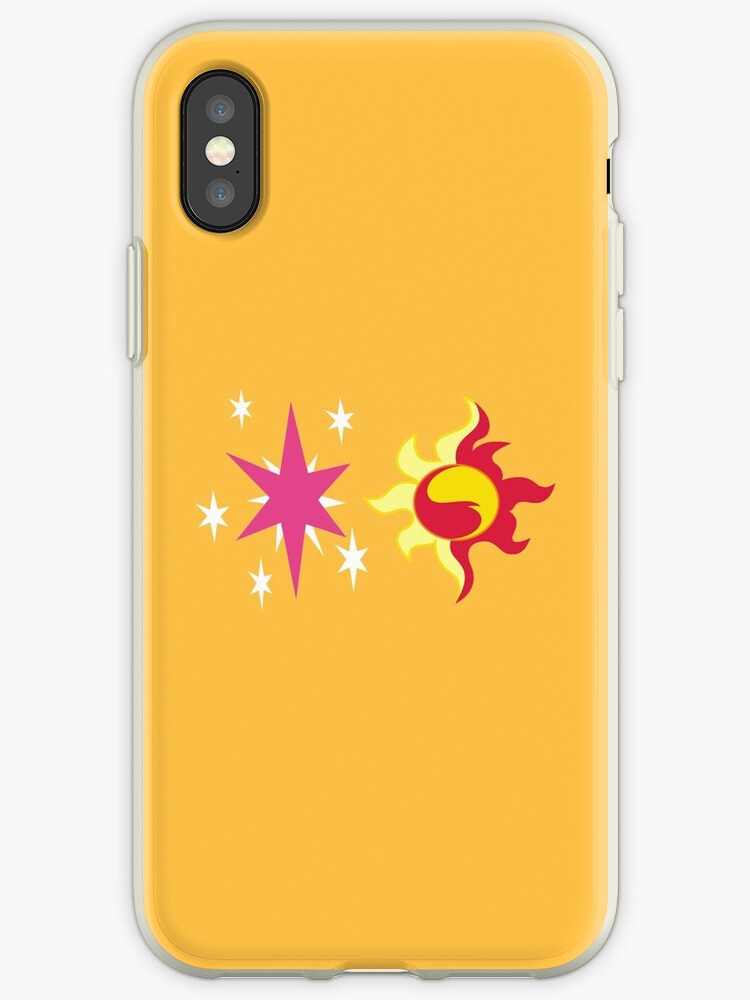 43e334da7f 'My little Pony - Sunset Shimmer + Twilight Sparkle Cutie Mark' iPhone Case  by ariados4711
