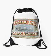 TIR - Vintage Posters - Cunard Drawstring Bag