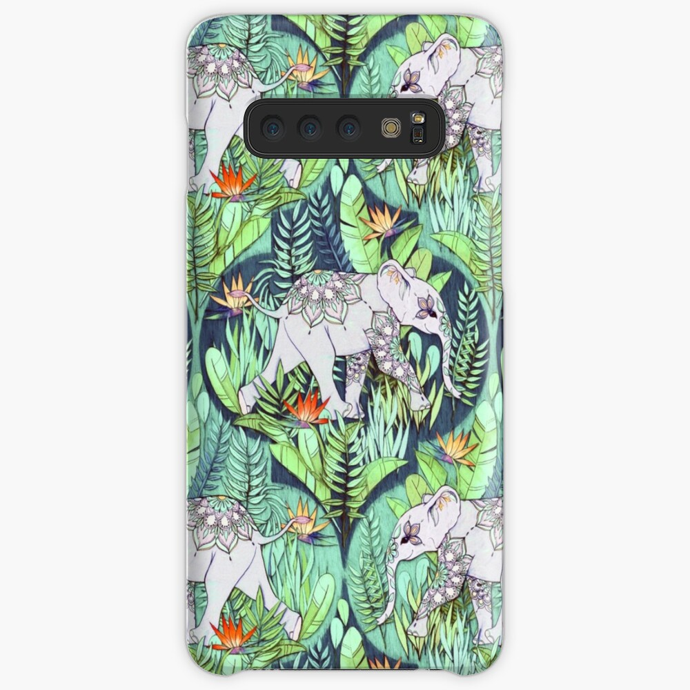 Little Elephant on a Jungle Adventure – faded vintage version Case & Skin for Samsung Galaxy