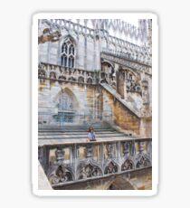 duomo terraces, thousands of sculptures Sticker