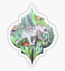 Little Elephant on a Jungle Adventure – faded vintage version Sticker
