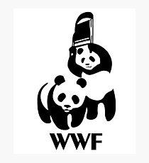 WWF Parody Panda Photographic Print