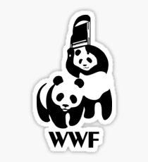 WWF Parody Panda Sticker