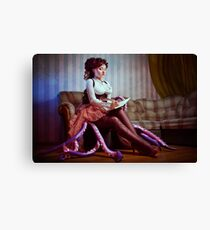 Steampunk victorian girl with tentacles Canvas Print