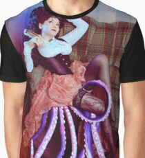 Steampunk victorian girl with tentacles Graphic T-Shirt