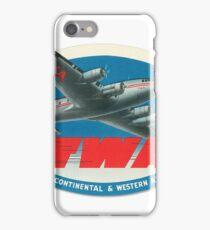 Vintage TWA Travel Tag iPhone Case/Skin