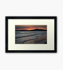 The Sun Sets on the Sea Framed Print