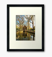 The Medici Fountain in Spring Framed Print