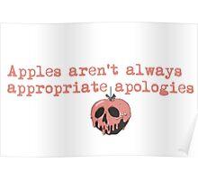 Apples aren't always appropriate apologies  Poster
