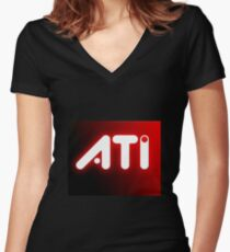 ATI Women's Fitted V-Neck T-Shirt
