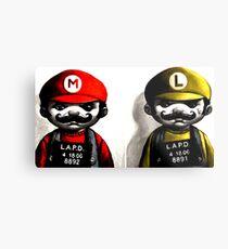 Gangsta Mario&Luigi  Metal Print