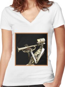 Metal Band ~ Part One Women's Fitted V-Neck T-Shirt