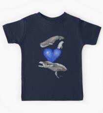 Loving marine mammals - version blue Kids Clothes