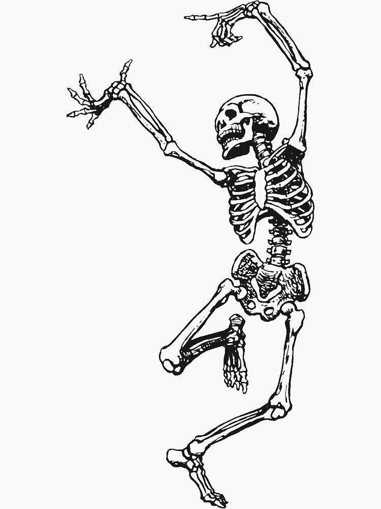 dancing skeleton having fun by hannahbrugge