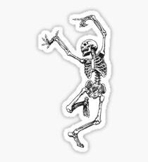 dancing skeleton having fun Sticker