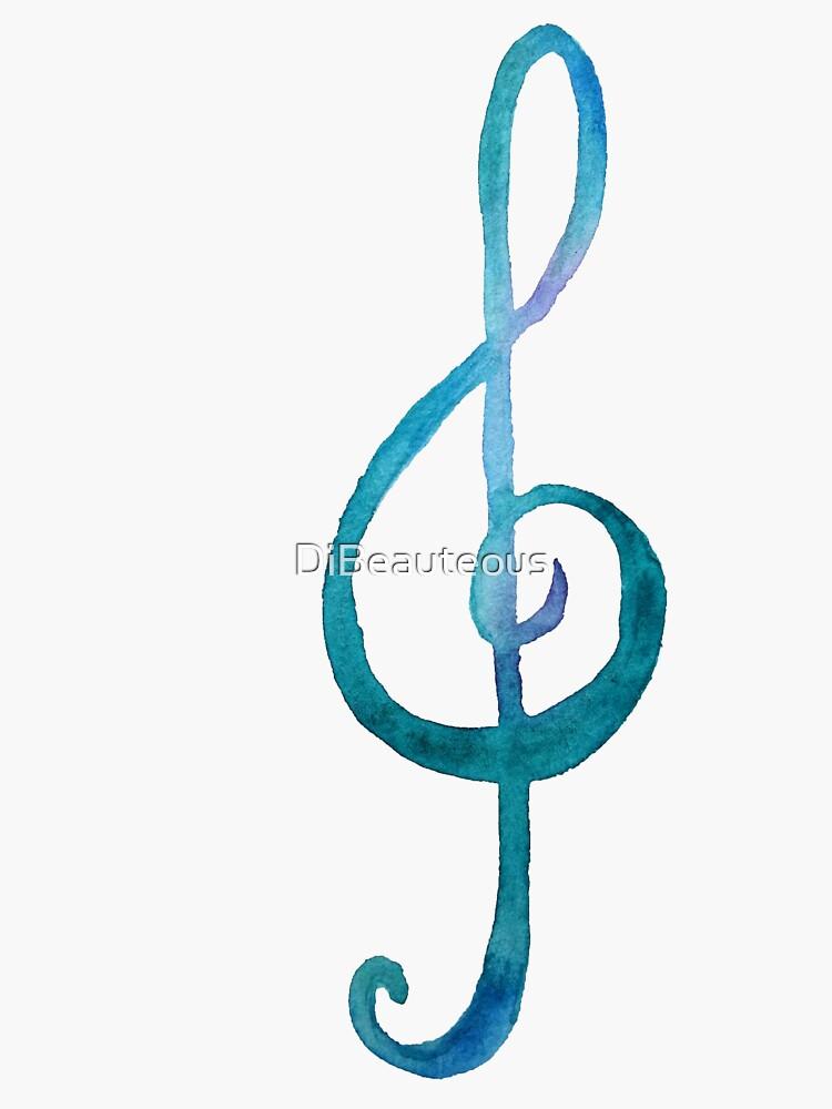 Violinschlüssel weiß von DiBeauteous