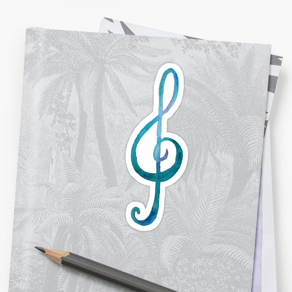 Treble-clef white by DiBeauteous
