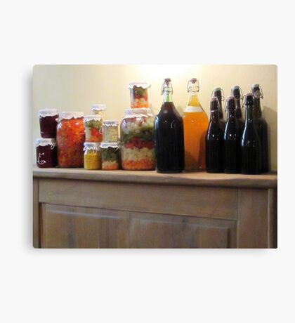 Provisions of yummy Canvas Print