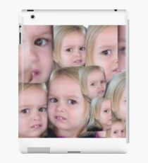 confused little blond girl case iPad Case/Skin