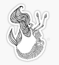 Mermaid Bones - RIP Sticker