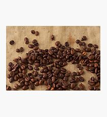 scattered coffee bean Photographic Print