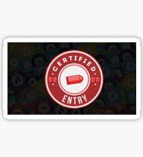 Certified Entry Sticker