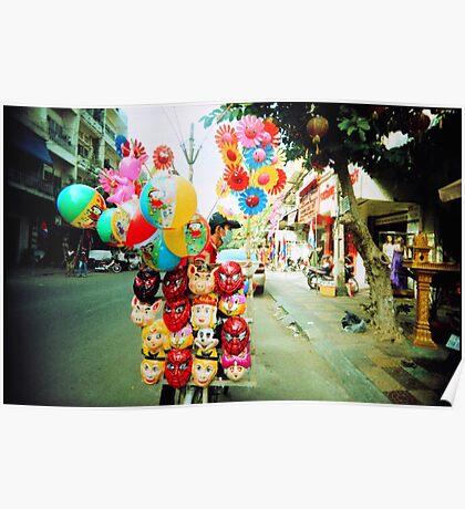 door to door, phnom penh, cambodia Poster