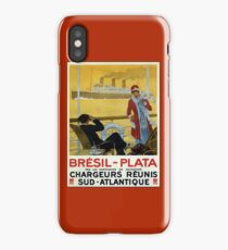 Vintage 1920s ocean liner cruises to Brazil Plata advert iPhone Case/Skin