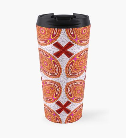 Orange Attitude Repeat Pattern  Travel Mug