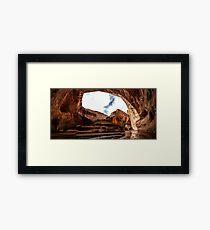 Hiking Escalante Framed Print