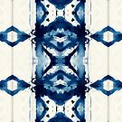 Indigo Watercolor Japanese Shibori by Liz Plummer
