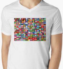 The World's Flags Men's V-Neck T-Shirt