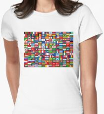 The World's Flags Women's Fitted T-Shirt