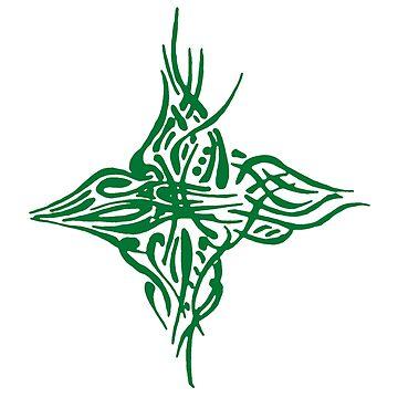 Abstract Green Bird by svetIu