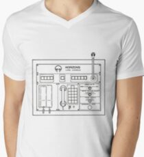 Horizons Load Console Control Panel Diagram from Epcot Men's V-Neck T-Shirt